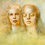 Leonor Fini portrait of double women surrealist painter